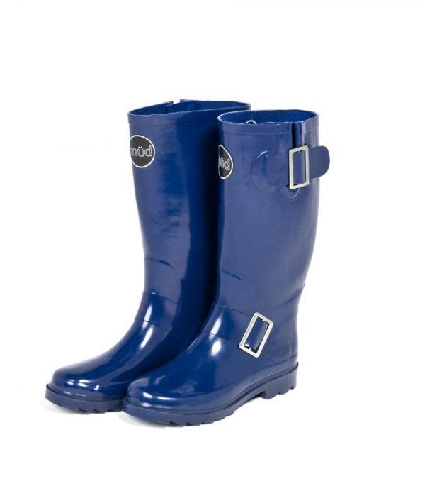 """""""Woolf"""" Blue Side Buckle Wellington Boot"""